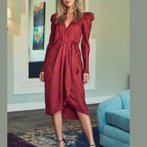 A.L.C. Leopard Print Silk Wrap Dress